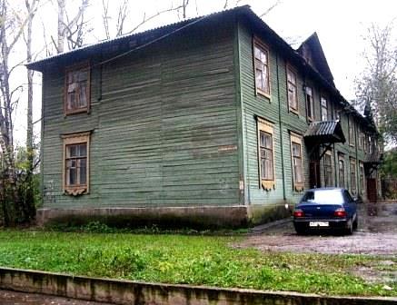 двухэтажный советский барак